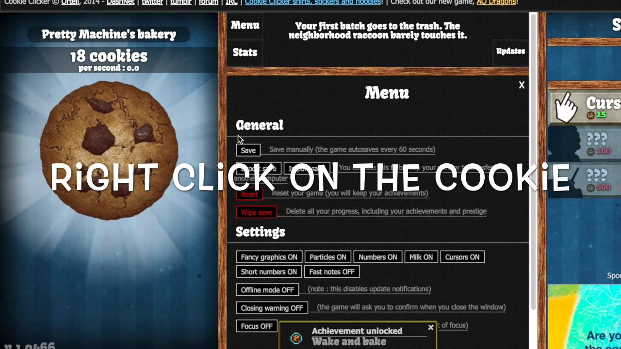 How To Hack Cookie Clicker Computer Version Youtube