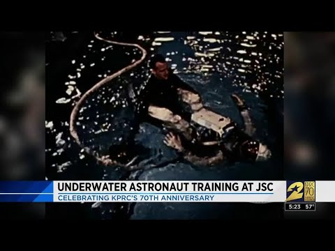 Underwater astronaut training at JSC