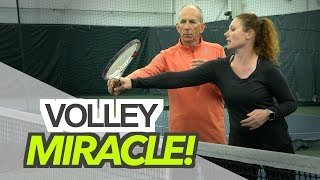 A Volley MIRACLE! - tennis lesson