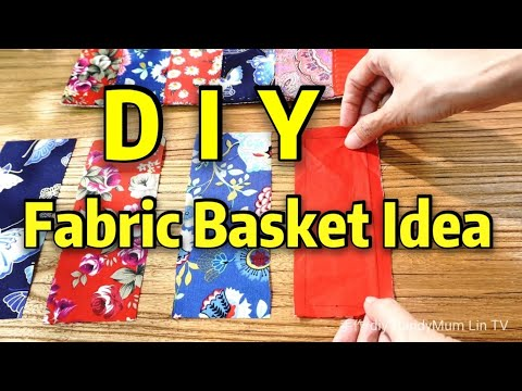 Storage Basket Tutorial┃fabric basket idea ┃STYLISH PATCHWORK #HandyMum