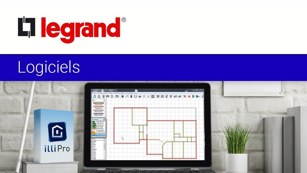 Créer un chiffrage avec plan en électricité avec le logiciel illiPro de Legrand - YouTube