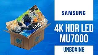 Unboxing Samsung UN49MU7000 4K HDR LED MU7000 Series
