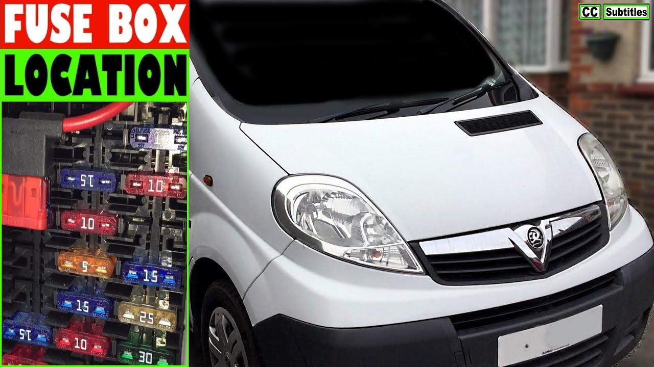 Vauxhall Vivaro Fuse Box Location and How to check Fuses on Vauxhall Vivaro  - YouTube | Renault Trafic 2003 Fuse Box |  | YouTube