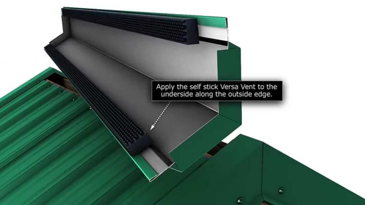 How To Install A Metal Roof Vented Ridge Cap For Union S
