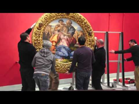 """Michelangelo's Holy Family moved to """"new room"""" in Uffizi Gallery"""