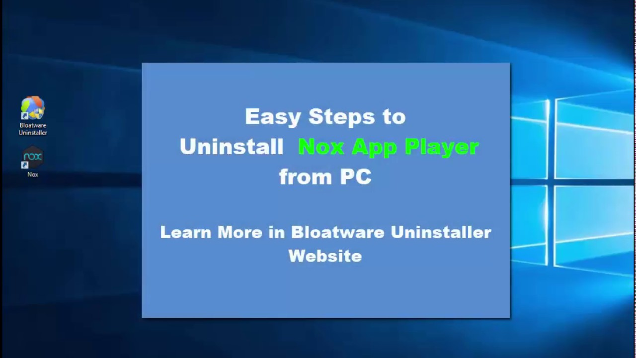 How to Safely & Fully Uninstall Nox App Player? PC Removal