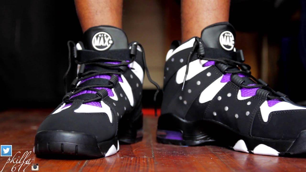 "nike chaussures de golf pour les hommes - Nike Air Max 2 CB '94 Black White Purple"" On Feet - YouTube"