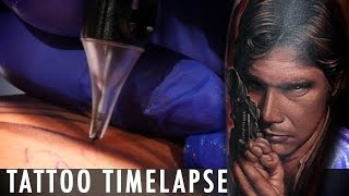 Star Wars Han Solo -Tattoo Time Lapse - Dave Paulo