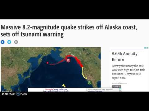 MONSTER 8.2 Earthquake Alaska! Tsunami Warnings US West Coast