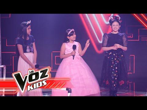 María Fernanda, Majo y Tefy cantan 'De qué manera te olvido' - Batallas   La Voz Kids Colombia 2021