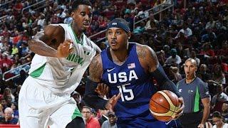 Nigeria @ USA 2016 Olympic Basketball Exhibition FULL GAME HD 720p English