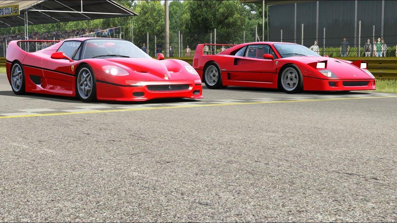 Ferrari F50 Vs Ferrari F40 At Monza Full Course Youtube