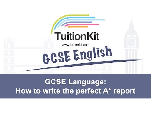 How to write a report english language gcse coursework