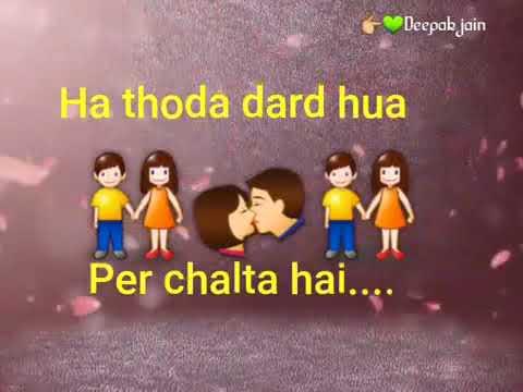 Sapna tuta hai to dil kabhi  jalta he    whatsapp status song
