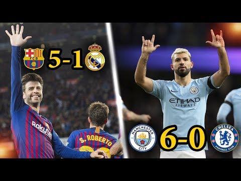 أكثر 5 مباريات انتهت بنتائج فاضحة فى كرة القدم خلال موسم 2019 | HD
