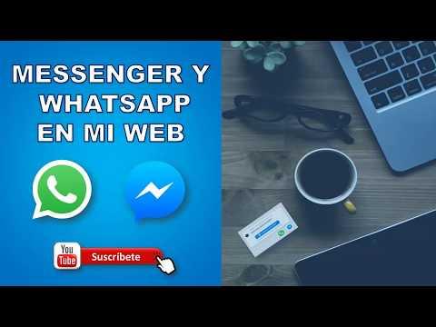 Agregar Chat Messenger Y Whatsapp En Sitio Web - 2019