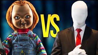 СЛЕНДЕРМЕН VS ЧАКИ   СУПЕР РЭП БИТВА   Slenderman Game ПРОТИВ Chucky Doll Фильм