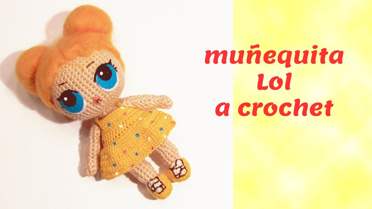 muñeca LOL a crochet materiales