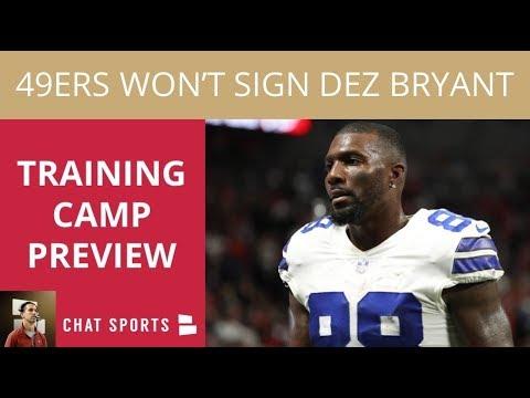 49ers Training Camp Predictions: Dez Bryant, Jonathan Cooper, & Dante Pettis