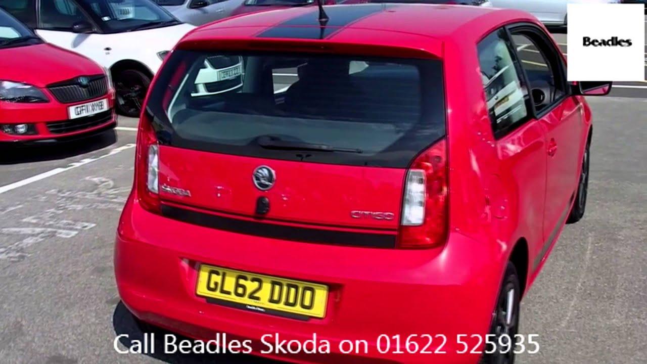 Beadles Tornado Red 2012 Skoda Citigo Hatchback 1 0 Mpi 60ps Se