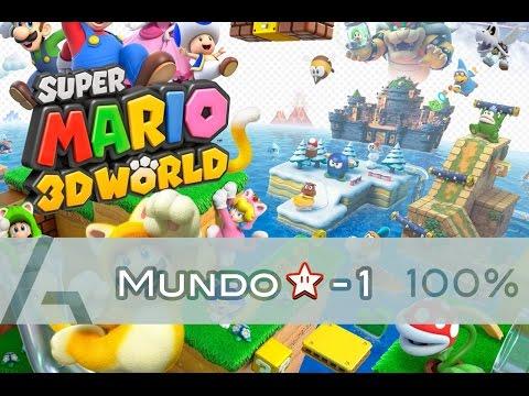 Super Mario 3D World | Mundo Estrella-1 (100% Walkthrough)