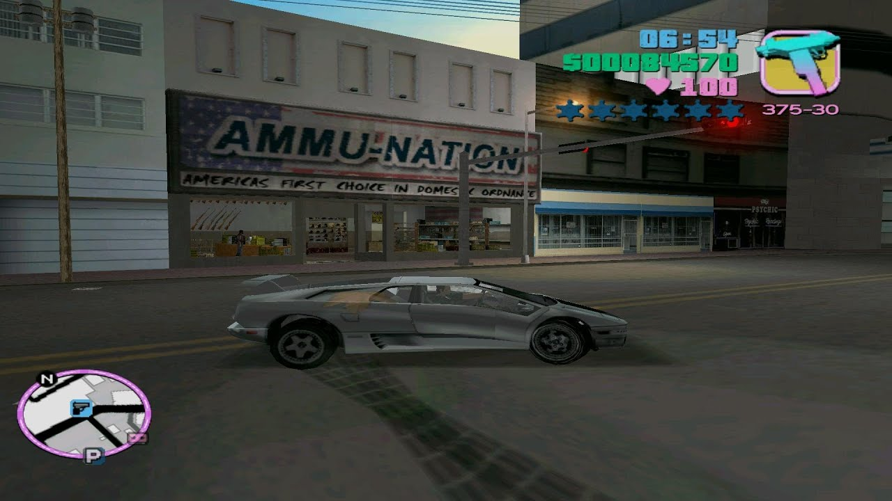 Gta Vice City Ultimate Gameplay Drive Lamborghini Diablo Hd