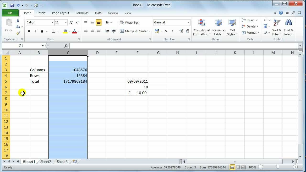 Microsoft Excel 2010 environment user interface - Tutorial ...