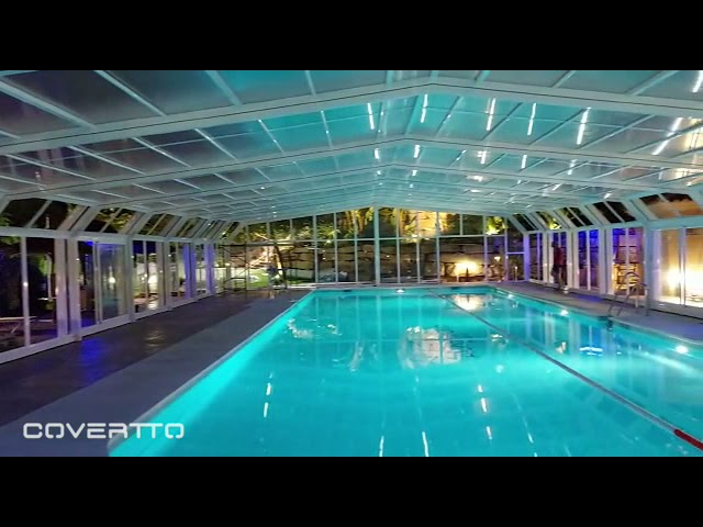 COVERTTO. Cubierta de piscina telescópica en Marbella.