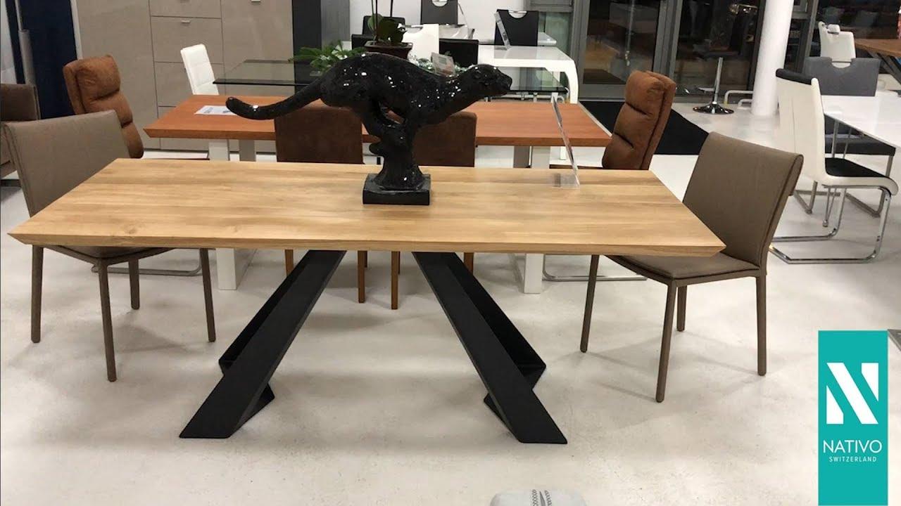 Massivholzmöbel schweiz  NATIVO Möbel Schweiz - Designer Esstisch CAMELOT aus Massivholz ...