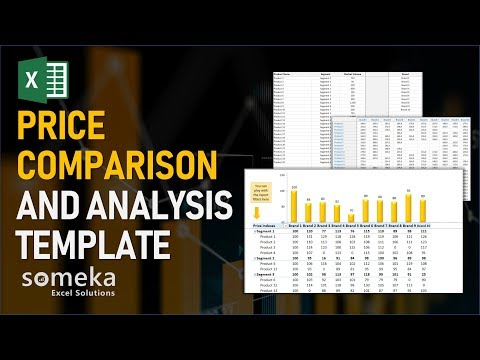 Price Comparison and Analysis | Excel Template for Competition Analysis