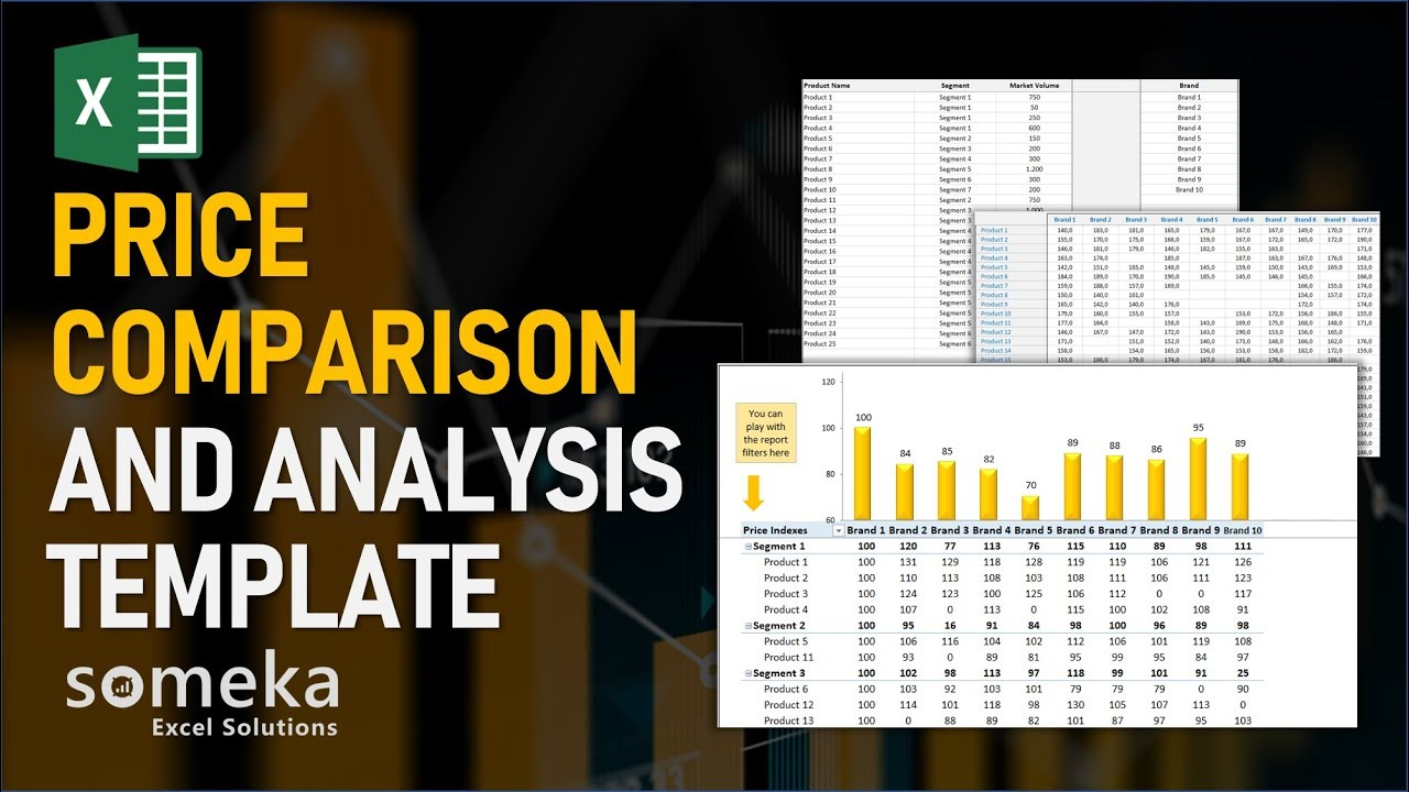 Price Comparison And Analysis Excel Template For Competition Analysis Youtube