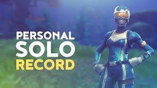 PERSONAL SOLO RECORD - HIGHEST KILL GAME! (Fortnite Battle Royale)