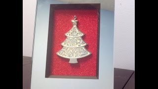 Diy Christmas Tree Picture Frame Ornament $5.00 | # 13