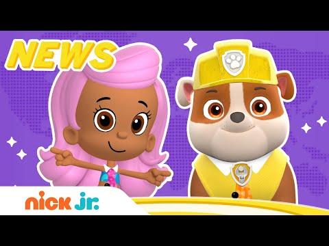 Nick Jr. News W/ Molly & Rubble 🗞️ PAW Patrol & Bubble Guppies