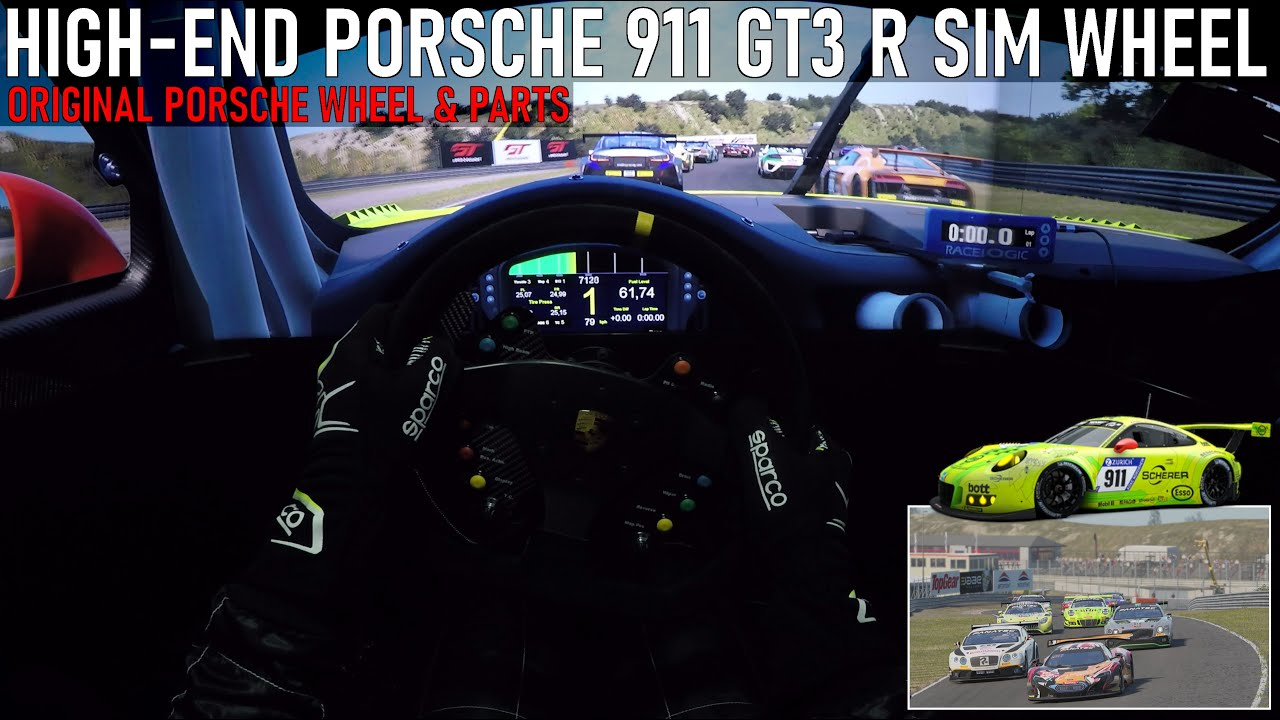 DRIVER'S VIEW - Original Porsche 911 GT3 R Wheel with Original Porsche Parts made by FiTech