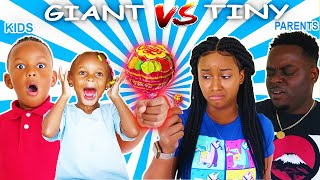 KIDS VS PARENTS GIANT CANDY VS TINY CANDY CHALLENGE | HILARIOUS | THE BEAST FAMILY
