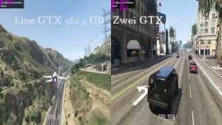 GTA5 4K UHD Benchmark GTX 960 4 GB SLI vs GTX 960 4 GB