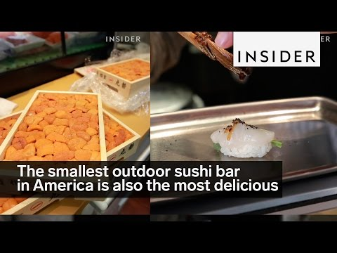 The smallest outdoor sushi bar in America is also the most delicious