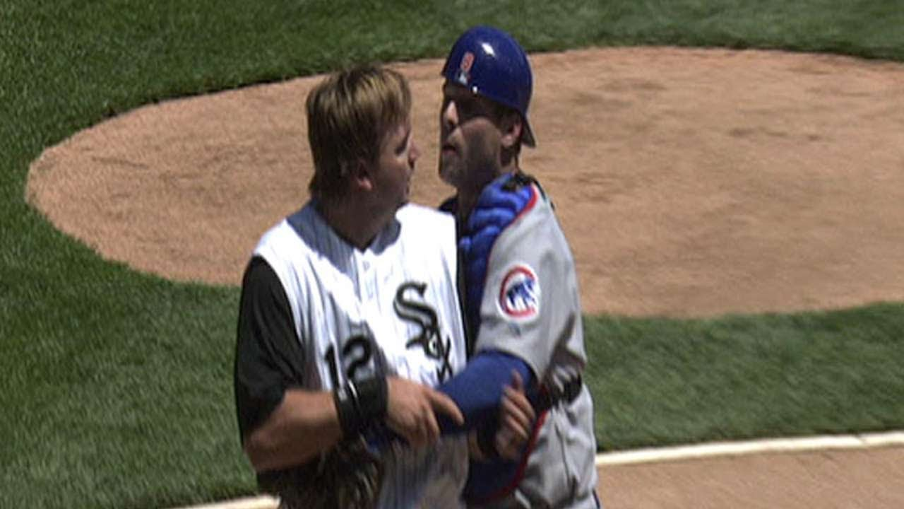 Cubs White Sox Brawl After Home Plate Collision Youtube