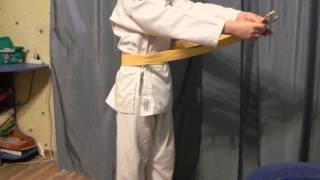 Как правильно завязать пояс по каратэ.(, 2015-03-25T19:20:50.000Z)