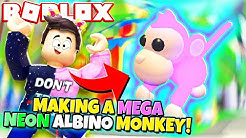 Making a MEGA NEON ALBINO MONKEY in Adopt Me! (Roblox)