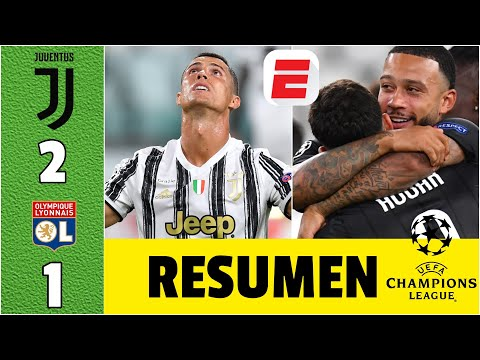 Juventus 2-1 Lyon   Ni un DOBLETE de CR7 pudo rescatar a la Juve. Lyon lo ELIMINÓ de la Champions