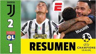 Juventus 2-1 Lyon | Ni un DOBLETE de CR7 pudo rescatar a la Juve. Lyon lo ELIMINÓ de la Champions