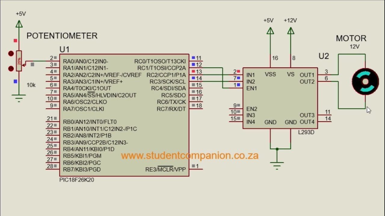 dc motor interfacing with microcontroller tutorial electricity site