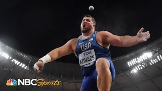Joe Kovacs wins greatest shot put final ever by 1cm | NBC Sports