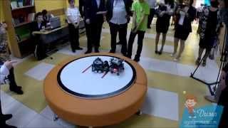 5 боев сумо роботов-сумоистов из Lego Mindstorms