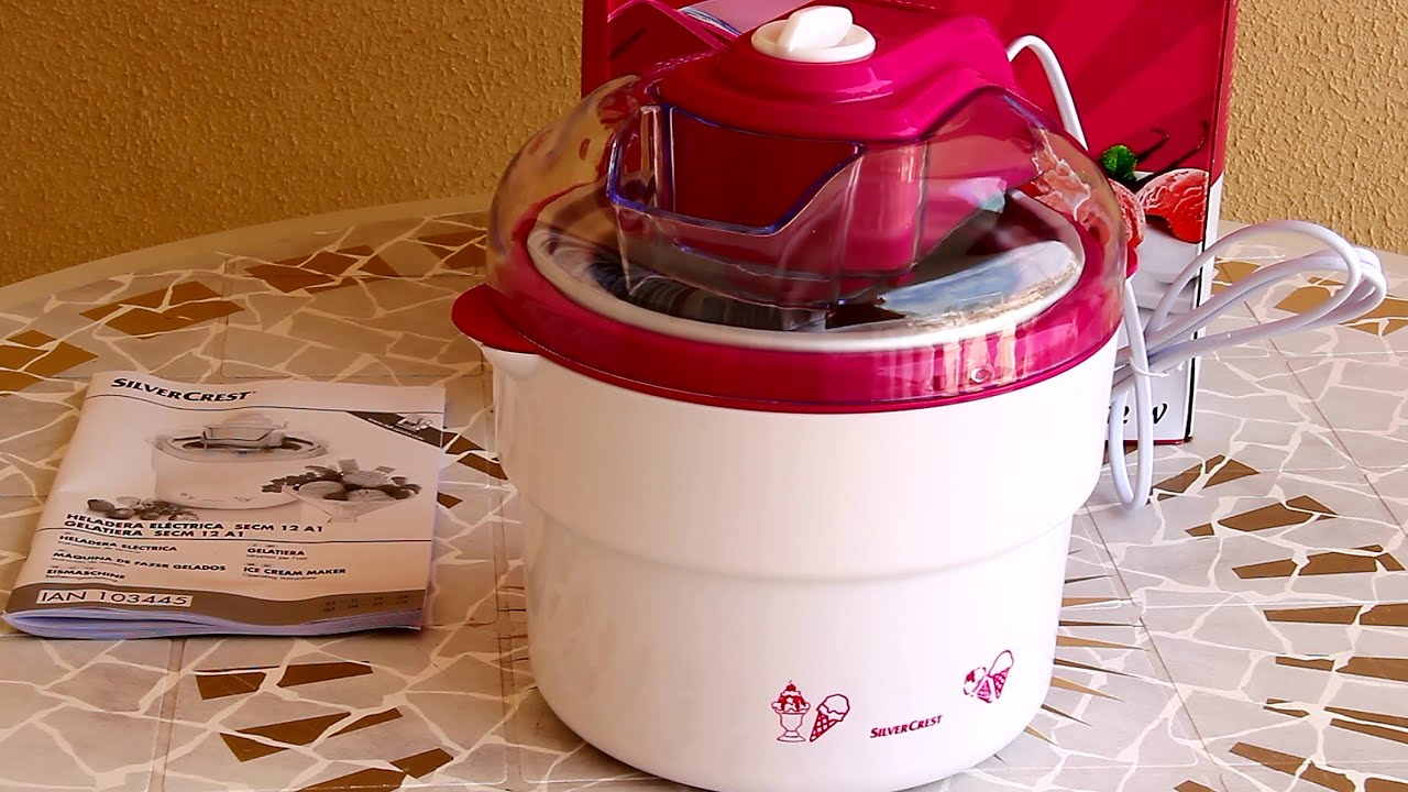 Silvercrest Ijsmachine Lidl Unboxing Silvercrest Ice Cream Maker
