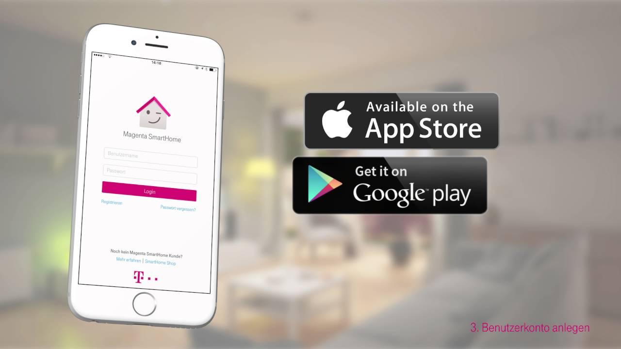 telekom magenta smarthome ersteinrichtung mit home base 1 youtube. Black Bedroom Furniture Sets. Home Design Ideas
