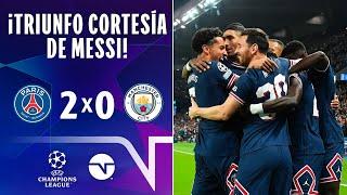 ¡TRIUNFO CORTESÍA DE MESSI! I PSG 20 MANCHESTER CITY I UEFA CHAMPIONS LEAGUE