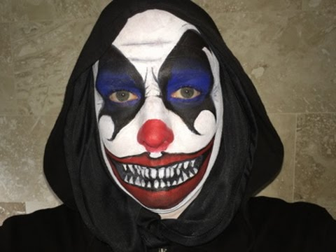 halloween 2014 scary clown makeup tutorial face paint time lapse